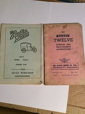 The Austin Twelve Running & Maintenance Instructions And The Austin Seven Spare