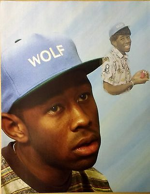 Tyler, The Creator - Full Page Magazine Picture Photo Cutting in Wolf / Golf Hat