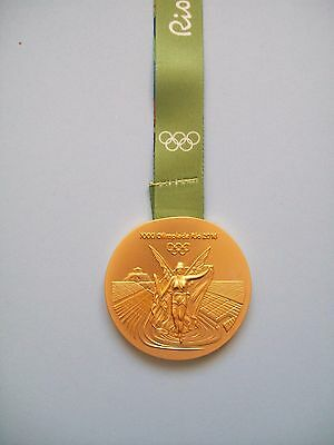 Rio 2016 Olympic Games Replica Gold Medal With Ribbon