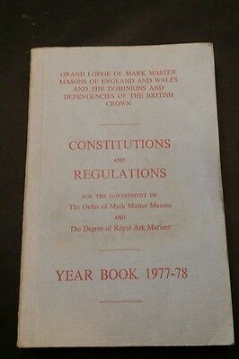 Masonic Book - Constitutions and Regulations - Year Book 1977/78 - Grand Lodge