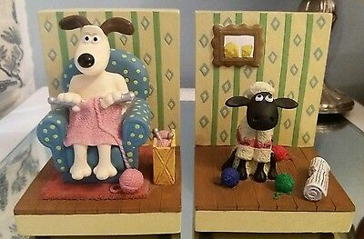 Wallace & Gromit Shaun the sheep book ends