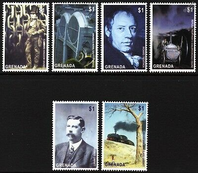 British Railway Engineer Train Stamps: Brunel/Trevithick/Garratt (2004 Grenada)