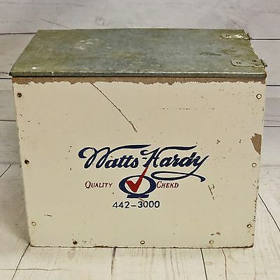 Vtg Watts-Hardy Milk Dairy Advertising Porch Box, Wood & Metal - Double Sided