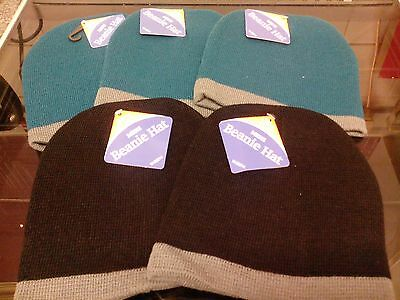Job Lot 5 X  Mens Beanie Hat Warm And Cosy Bnwt