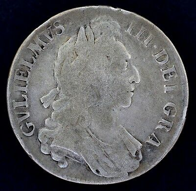 1695 King William III - SILVER CROWN COIN