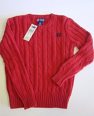 Chaps Retail $44 Size XL 18 20 Sweater Cable Knit Red 18-20