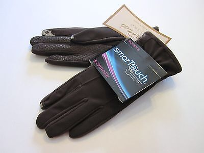New Retail $42 Isotoner Size M L Gloves Brown Smartouch Plush