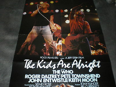 VINTAGE German Promo POSTER The WHO Kids are alright CONCERT 1979 Pete Townshend