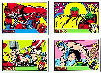 AVENGERS SILVER AGE (2015)--Complete 100-Card Base Set + Wrapper*