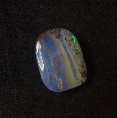 Beautiful 15.7Ct Queensland Australia Polished Solid Boulder Opal Ready To Set!