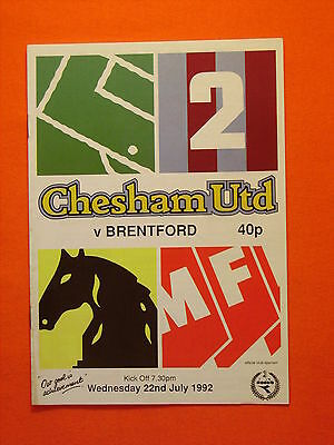 Chesham United v Brentford, Friendly  22nd July 1992