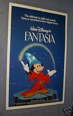 Original FANTASIA Movie Theater Poster near mint
