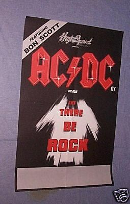 AC/DC LET THERE BE ROCK 1980 New Zealand Movie Poster
