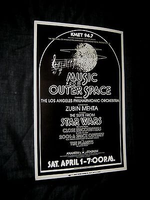 MUSIC FROM OUTER SPACE L.A. Philharmonic STAR WARS Close Encounters ZUBIN MEHTA