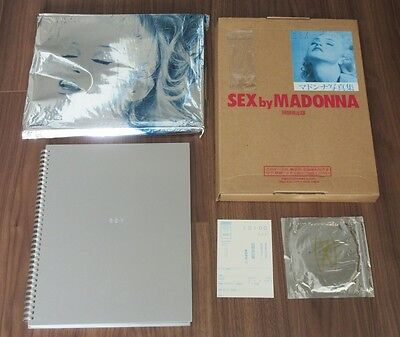 Madonna JAPAN issue SEX book MAILING BOX silver foil sleeve CD postcard FULL SET