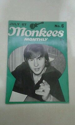 Monkees Monthly No. 6 July 1967, excellent
