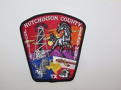 Texas State Hutchinson County Juvenile Police Regulation Uniform Patch