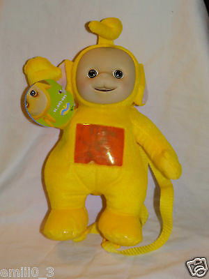 "New With Tags Teletubbies Backpack Laa Laa  Plush  14"" Doll"