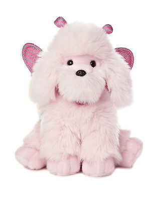 * AURORA MIYONI Stuffed Plush Toy PINK POODLE Fairy Puppy Dog WING Fairie Angel