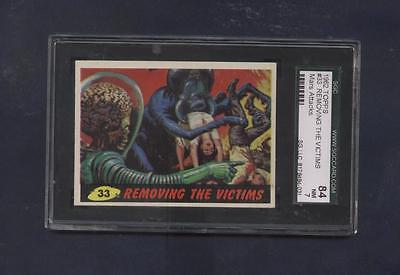 Mars Attacks topps card #33  SGC graded 84 Near Mint  Removing the Victims