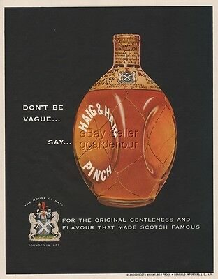 1954 Haig & Haig Pinch Scotch ~ Scots Whisky ~ Whiskey Vintage Magazine Print Ad