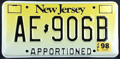 New Jersey 1998 APPORTIONED TRUCK License Plate!
