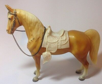 Breyer Traditional Western Horse Palomino Saddle Chain 1950's Early Unmarked