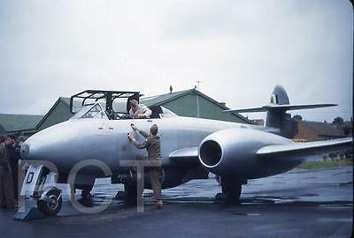 423E Original 1950's Slide Royal Air Force Gloster Meteor Jet Fighter Aircraft