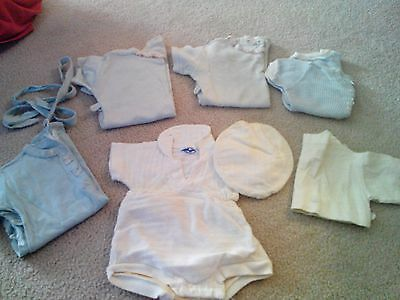 Vintage Boy's One Piece Outfits 6 months 12 months or Size One 5 of them Blue