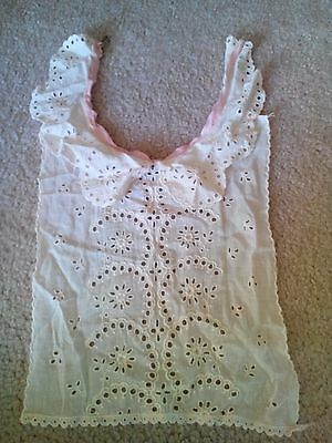"Vintage Eyelet Women's Children Collar Eyelet 15"" Long 8 1/2' Wide Cotton"