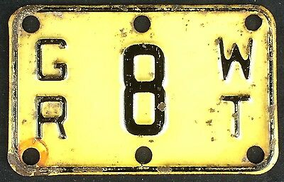 Indiana 1950s? TRUCK 8 TON GROSS WEIGHT TAB License Plate!