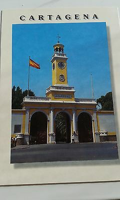 Cartagena Military Arsenal Postcard Spain Puerta Del Arsenal Militar