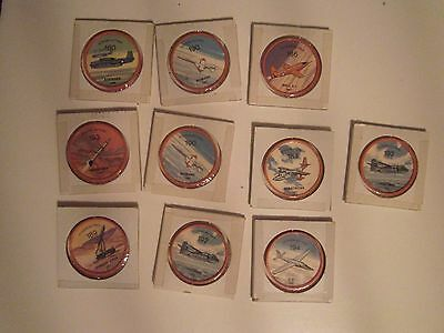 1960's JELL-O HOSTESS PLANE AIRPLANES COINS WHEELS Lot of 10