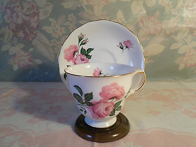 Vintage Fine Bone China Rose Tea Cup and Saucer by Queen Anne