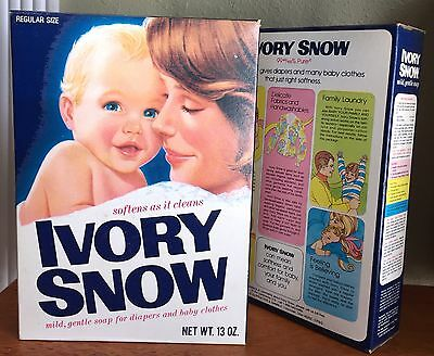 Vintage reg.size Ivory Snow Box Unopened Full 26 oz (2 boxes of 13 oz) PLz READ!