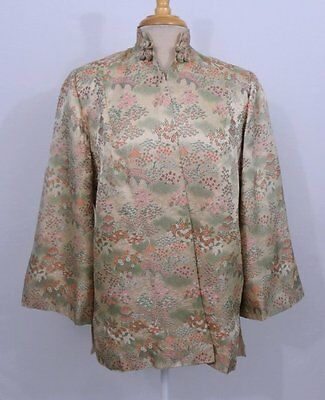 Vintage Antique 1920s 30s Asian Embroidered Women's Jacket Robe