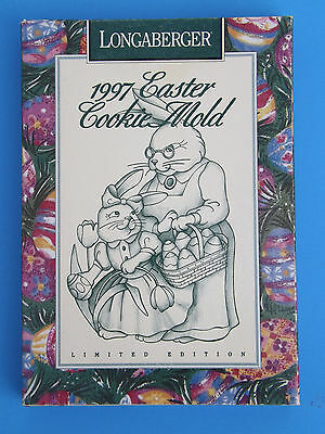 Longaberger Pottery 1997 Easter Cookie Mold Short Story & Recipe