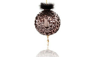 Diane Gilman Cheetah Christmas Tree Ornament w/ SWAROVSKI Elements NEW