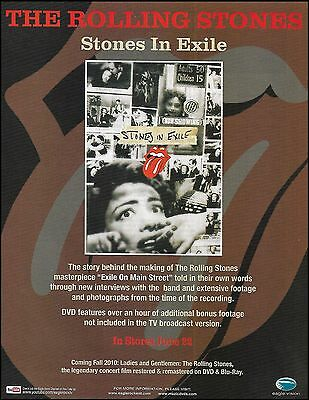 The Rolling Stones 2010 Stones In Exile ad 8 x 11 advertisement print