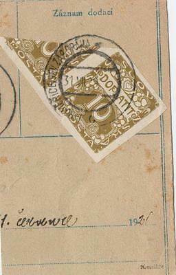 Czechoslovakia Rare  stamps on PC piece!!!SIGN