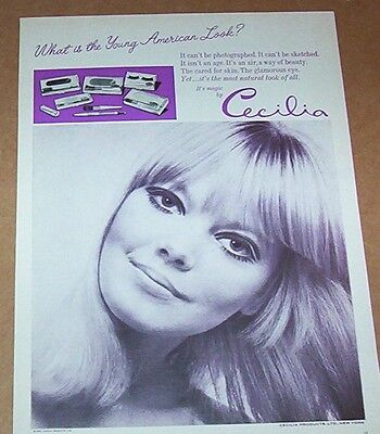 1966 ad page - Cecilia cosmetics beauty Girl young American vintage Print Advert