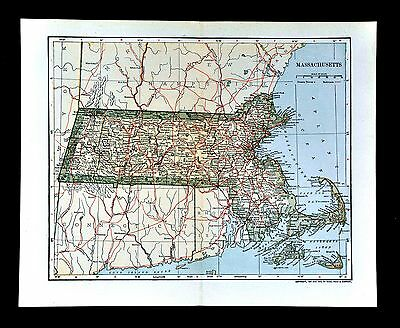 1903 Dodd Mead Map - Massachusetts - Boston Newton Plymouth Cape Cod Nantucket