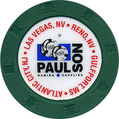 PAULSON GAMING SUPPLIES Inlaid Color Sample Casino Chip 'Forest Green'