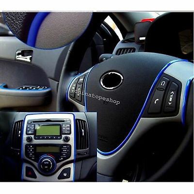 Best New Edge Gap Blue Line Interior Point Molding Accessory Garnish 5M for Cars
