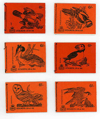 Six 6/- sterling machine booklets