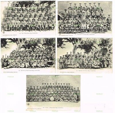 Old Military Postcards The Sussex Regiment In Crete / Greece Vintage C.1900