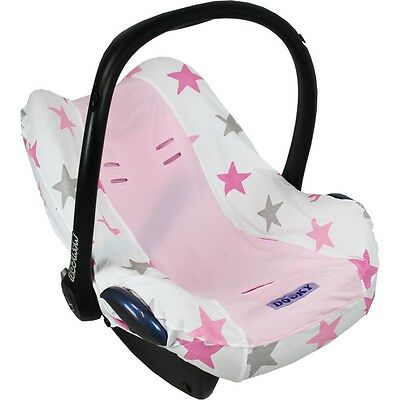 Dooky Car Seat Summer Cotton Cover Pink Stars fits Maxi Cosi Cabriofix/Pebble
