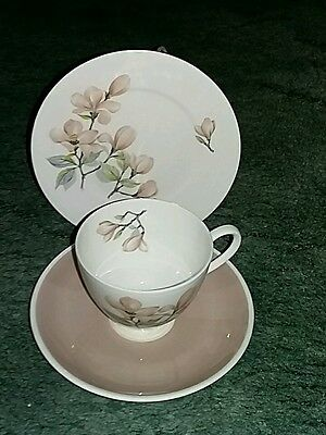 Royal Adderley Ophelia pattern Tea trio. Cup saucer and side plate.