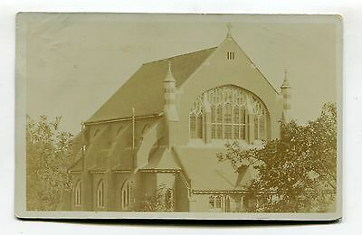 Southgate, Middlesex - St Andrew's Church - old real photo postcard