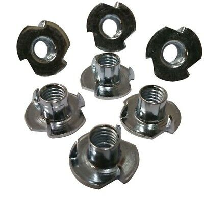 "3 Prong T Nut 8-32 x 1/4"" (Tee Nut) Qty: 100 Zinc Plated"